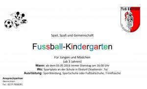 Aushang Fußballkindergarten